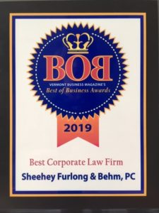 Recent Vermont legal news and updates from Sheehey Furlong & Behm, a